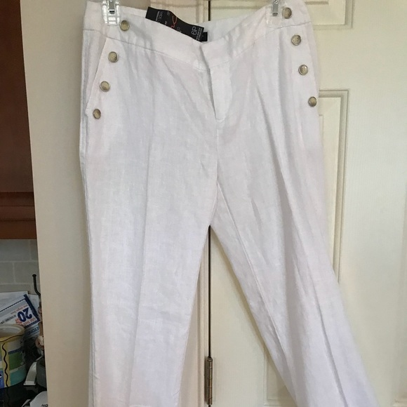 83a2c2a4c836 INC International Concepts Pants | Inc Wide Leg White Linen | Poshmark